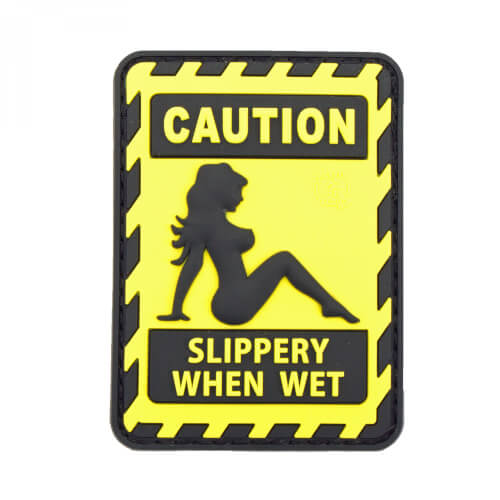 JTG SLIPPERY WHEN WET Patch