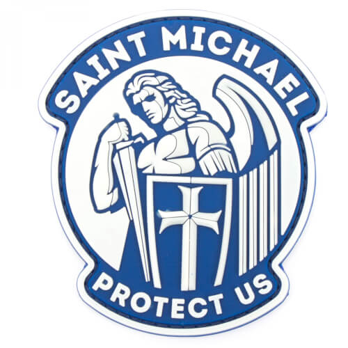 JTG SAINT MICHAEL PROTECT US Patch, lightblue