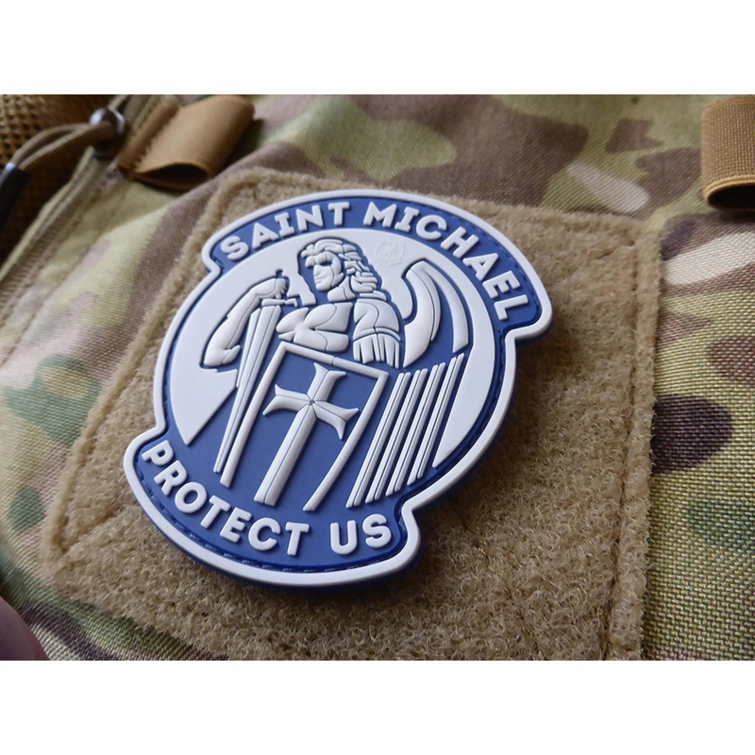 JTG SAINT MICHAEL PROTECT US Patch, lightblue (gb)