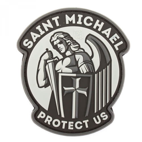 JTG SAINT MICHAEL PROTECT US Patch, blackops (gb)
