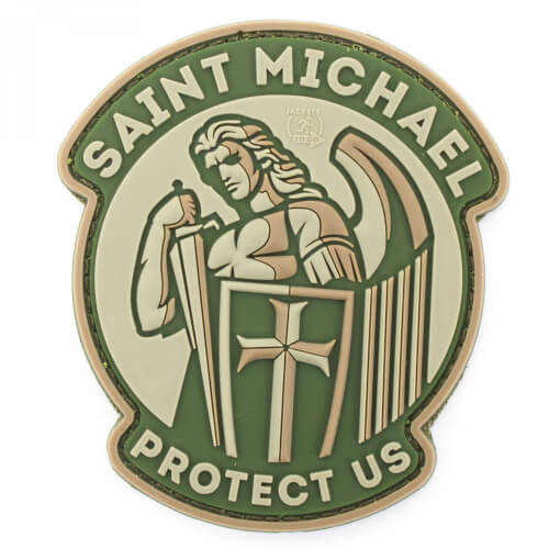 JTG SAINT MICHAEL PROTECT US Patch, mc