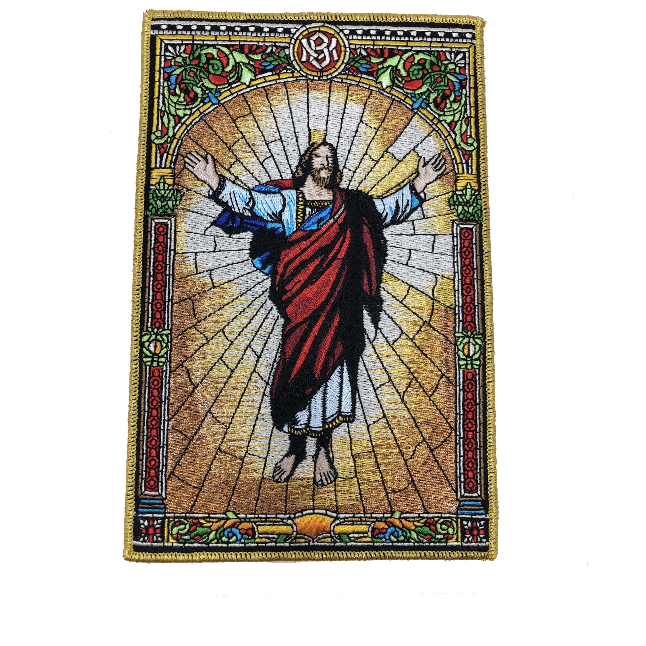Risen Auferstehung Christ Jesus - Embroidered Patch - 20 x 13 cm