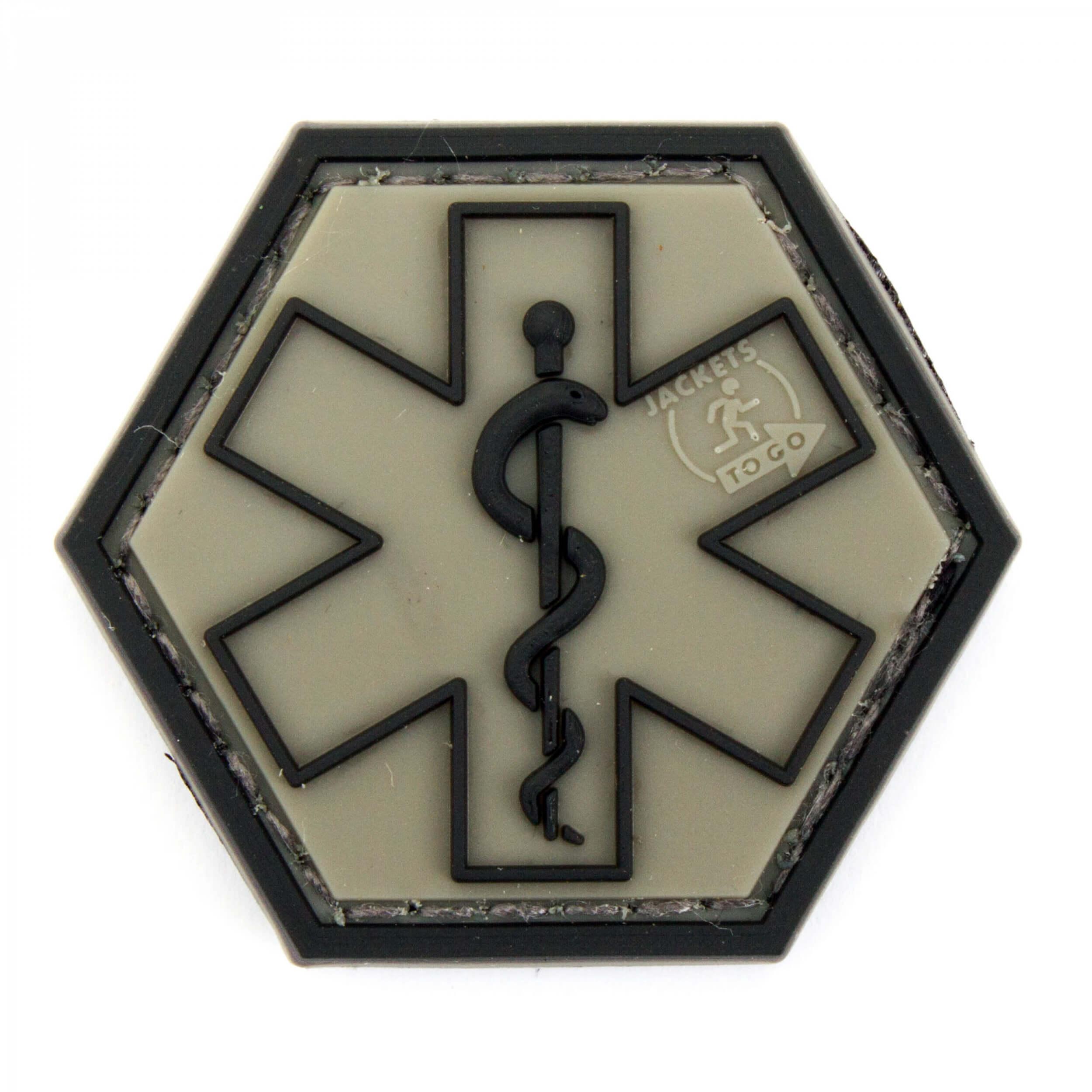 JTG PARAMEDIC, steingrau-oliv Hexagon Patch  (gb)