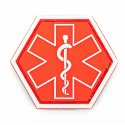 JTG PARAMEDIC, rot Hexagon Patch