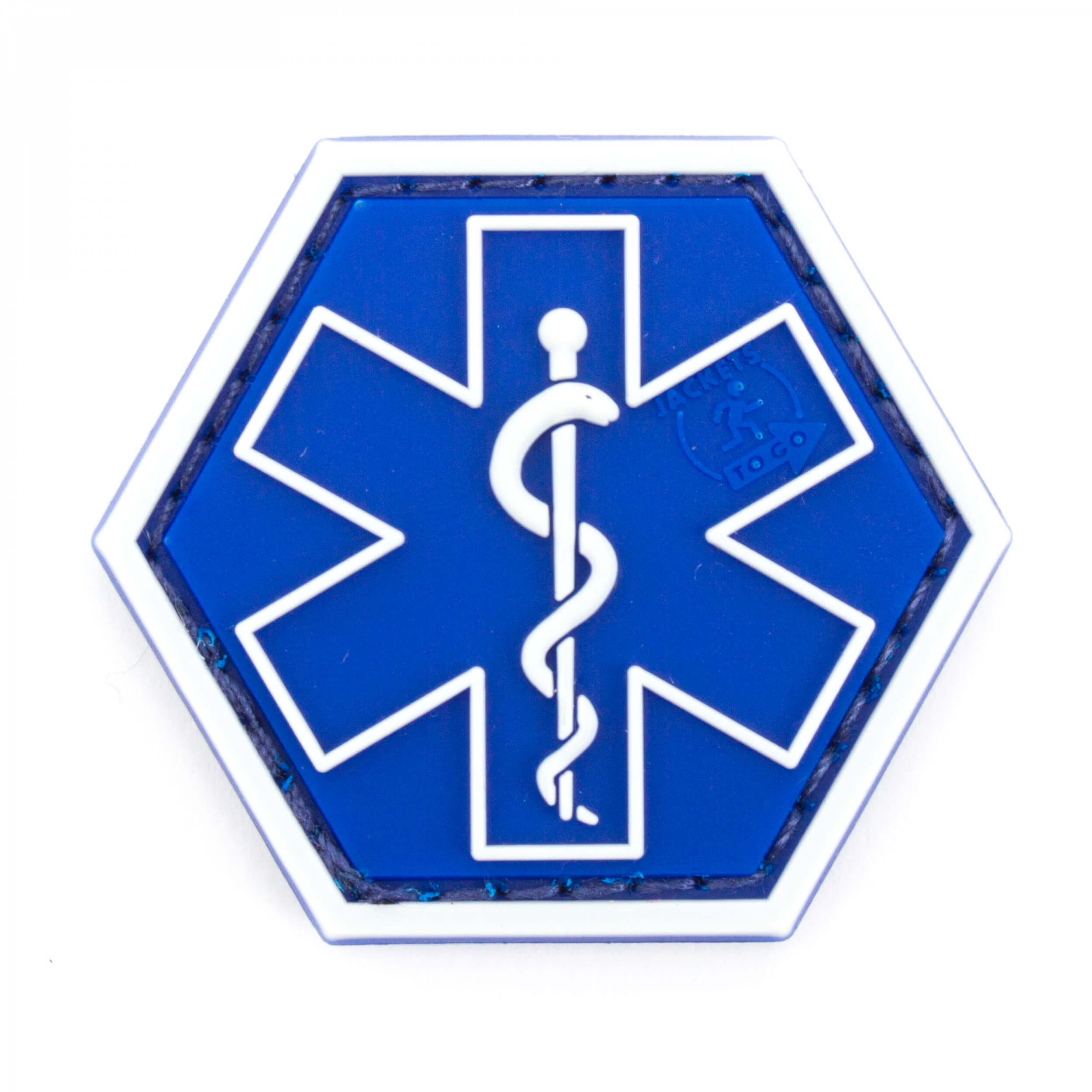JTG PARAMEDIC, blau Hexagon Patch   (gb)