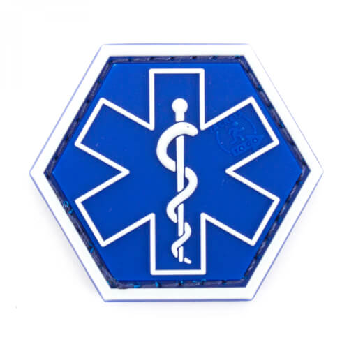JTG PARAMEDIC, blau Hexagon Patch