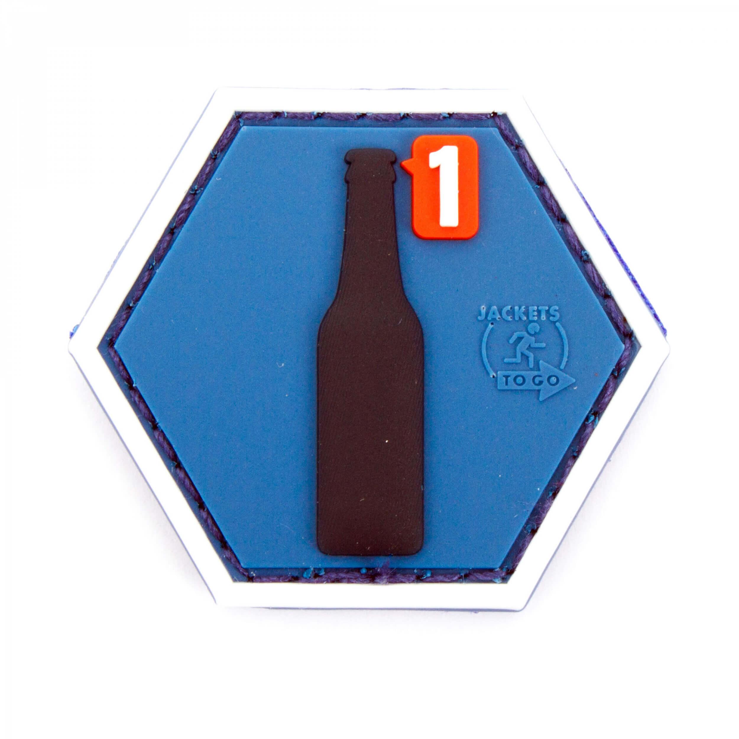 JTG  BEER REQUEST Hexagon Patch  (gb)