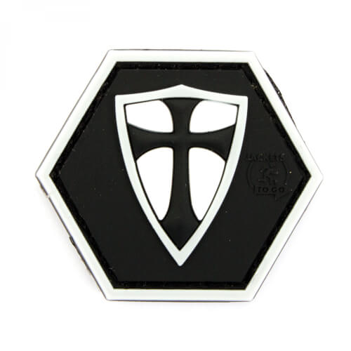 JTG RECTE FACIENDO SCHILD, black version Hexagon Patch