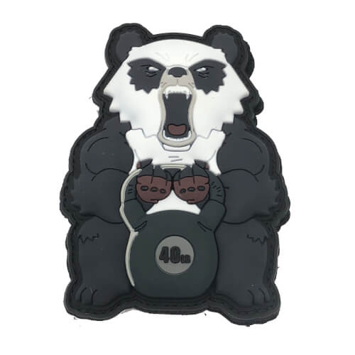 Angry Fitness Workout Panda Kettlebell 40lb 3D PVC Patch