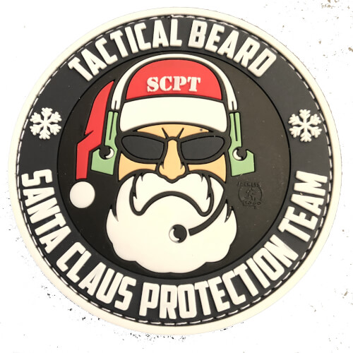 TACTICAL BEARD SANTA CLAUS PROTECTION TEAM Patch