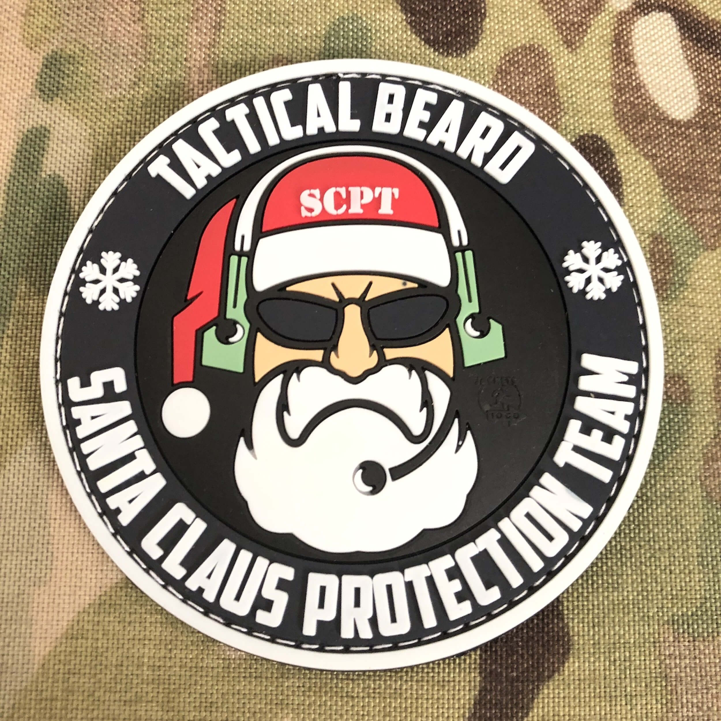 TACTICAL BEARD SANTA CLAUS PROTECTION TEAM Patch (gb)