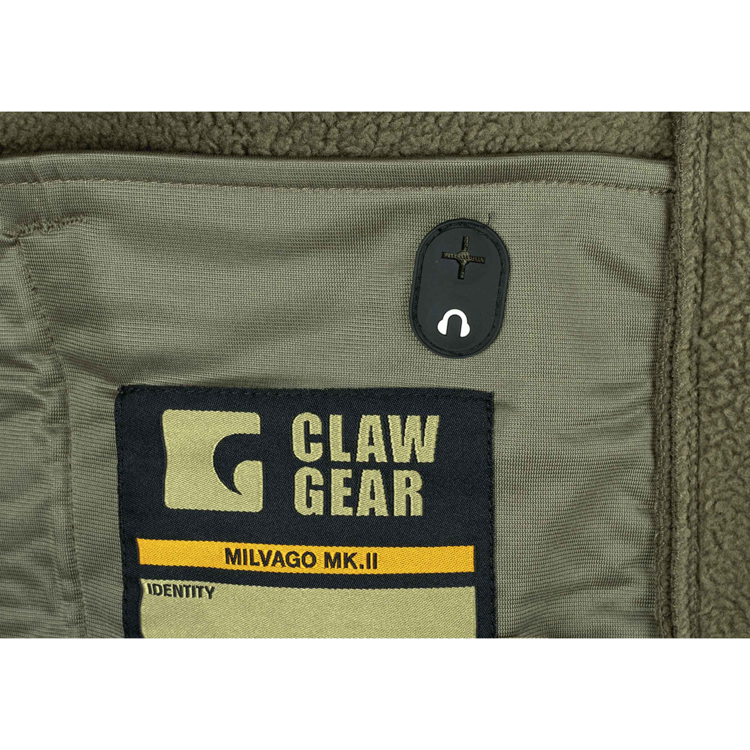 Oliv Gr/ün Clawgear Aviceda MK.II Leichter Fleece-Hoody atmungsaktiv RAL7013