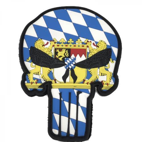 Bayern Schädel Skull Patriot Punisher Patch