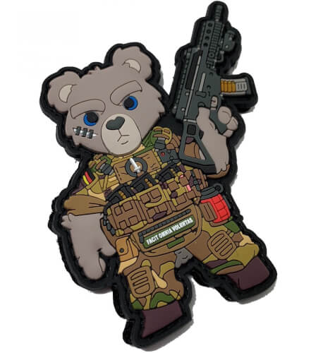 Teddybär  Bundeswehr Soldat Multitarn Patch
