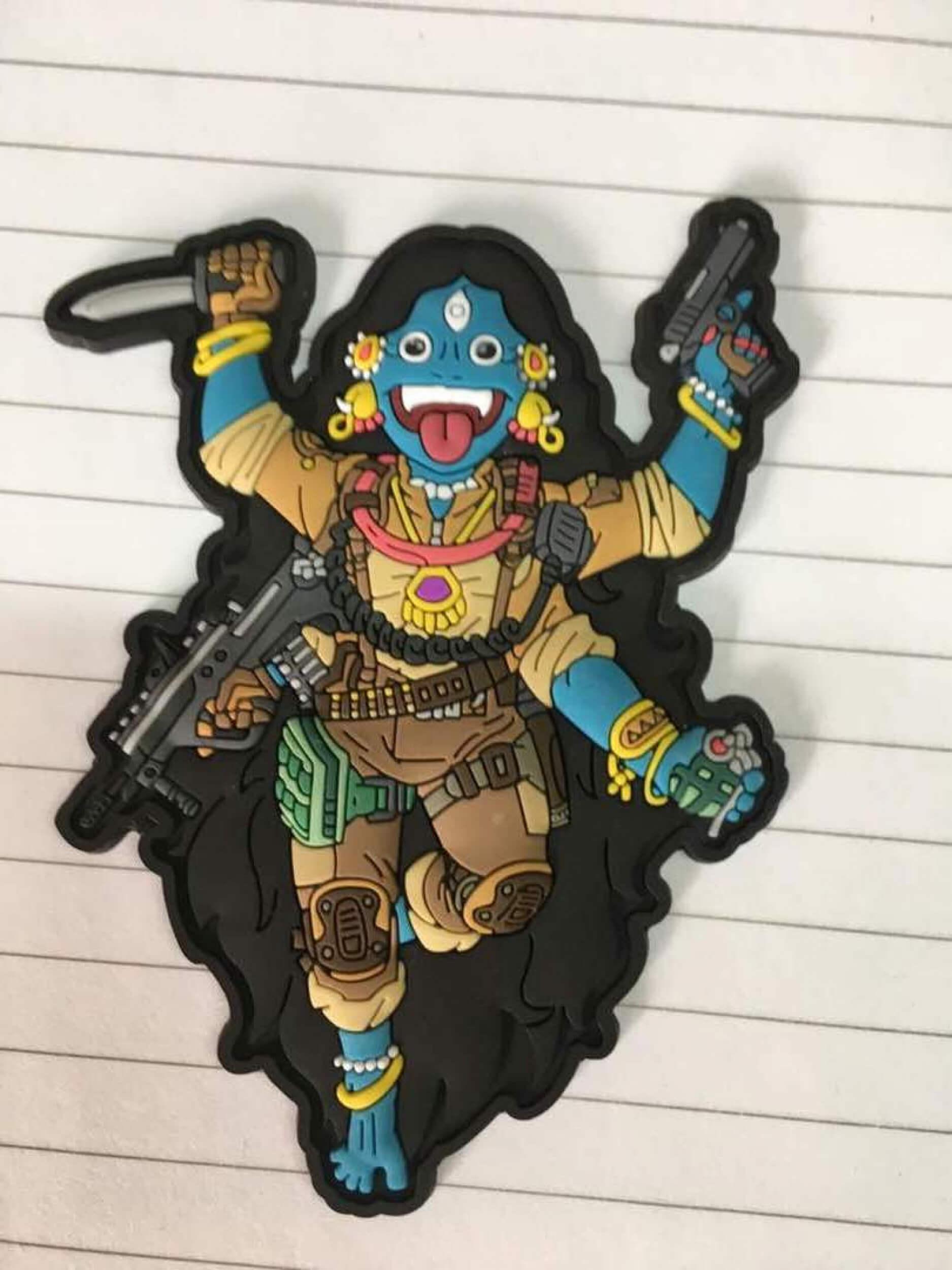 Kali the Black 3D PVC Patch Tactical Gods Mystic Warriors by HIWEZ