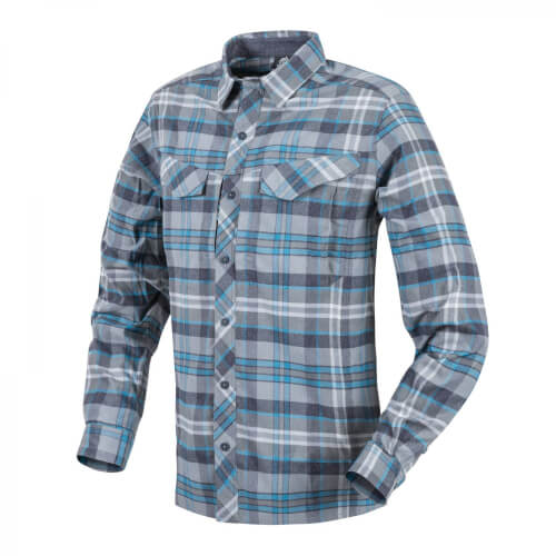 Helikon-Tex Defender Mk2 Pilgrim Long Sleeve Shirt - Blue Plaid