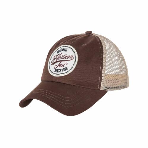 Helikon-Tex Trucker Logo Cap -Cotton Twill- Mud Brown