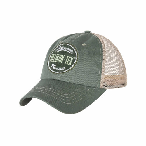 Helikon-Tex Trucker Logo Cap -Cotton Twill- Green/White