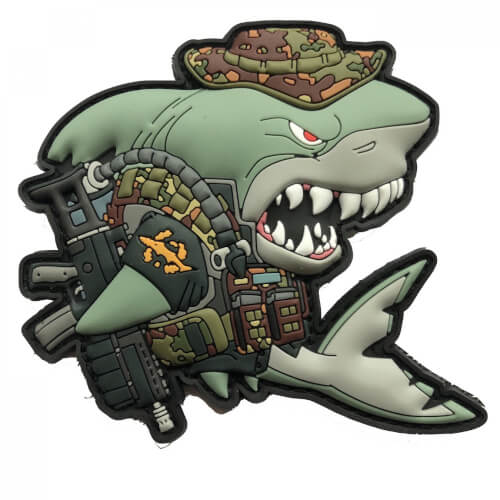 Combat Diver Shark Project Charity Patch