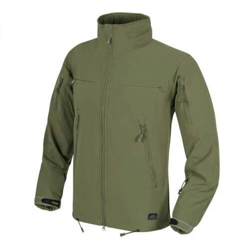 Helikon-Tex Cougar QSA + HID Jacke - Soft Shell Windblocker - Olive Green