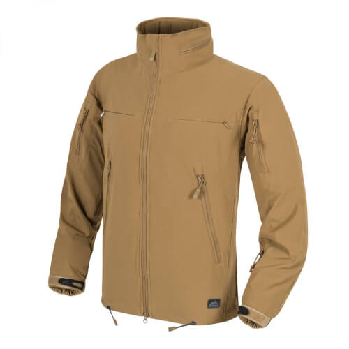 Helikon-Tex Cougar QSA + HID Jacke - Soft Shell Windblocker - Coyote