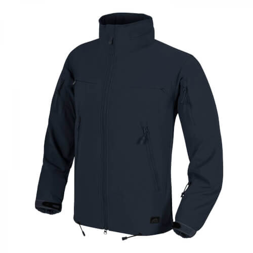 Helikon-Tex Cougar QSA + HID Jacke - Soft Shell Windblocker - Navy Blue