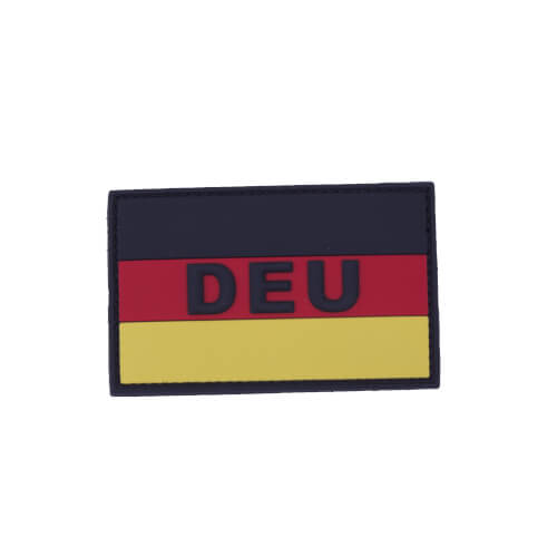 "Mil-Tec BW BW Patch 3D ""DEU"" PVC m. Klett large fullcolour"