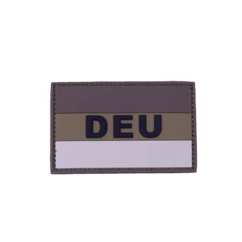 "Mil-Tec BW BW Patch 3D ""DEU"" PVC m. Klett large Desert"