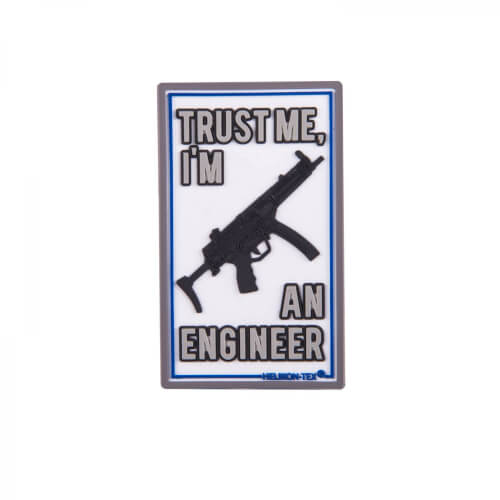 Helikon-Tex TRUST ME IM AN ENGINEER Patch PVC - White