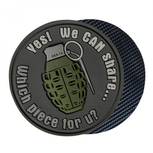 Helikon-Tex WE CAN SHARE GRENADE Patch PVC - grey