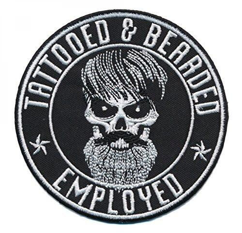 Patch Squad TATTOOED BEARDED AND EMPLOYED EMBROIDERED PATCH
