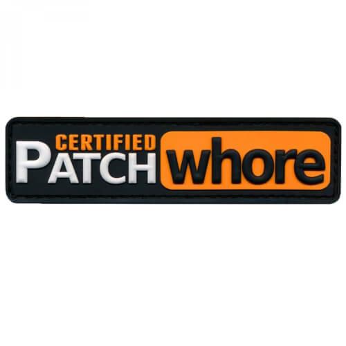 Patch Squad CERTIFIED PATCH WHORE Patch 3D PVC