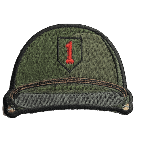 BIG RED ONE 1ST INFANTRY DIVISION HELMET PATCH