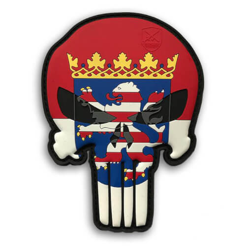 Hessen Schädel Skull Patriot Punisher Patch