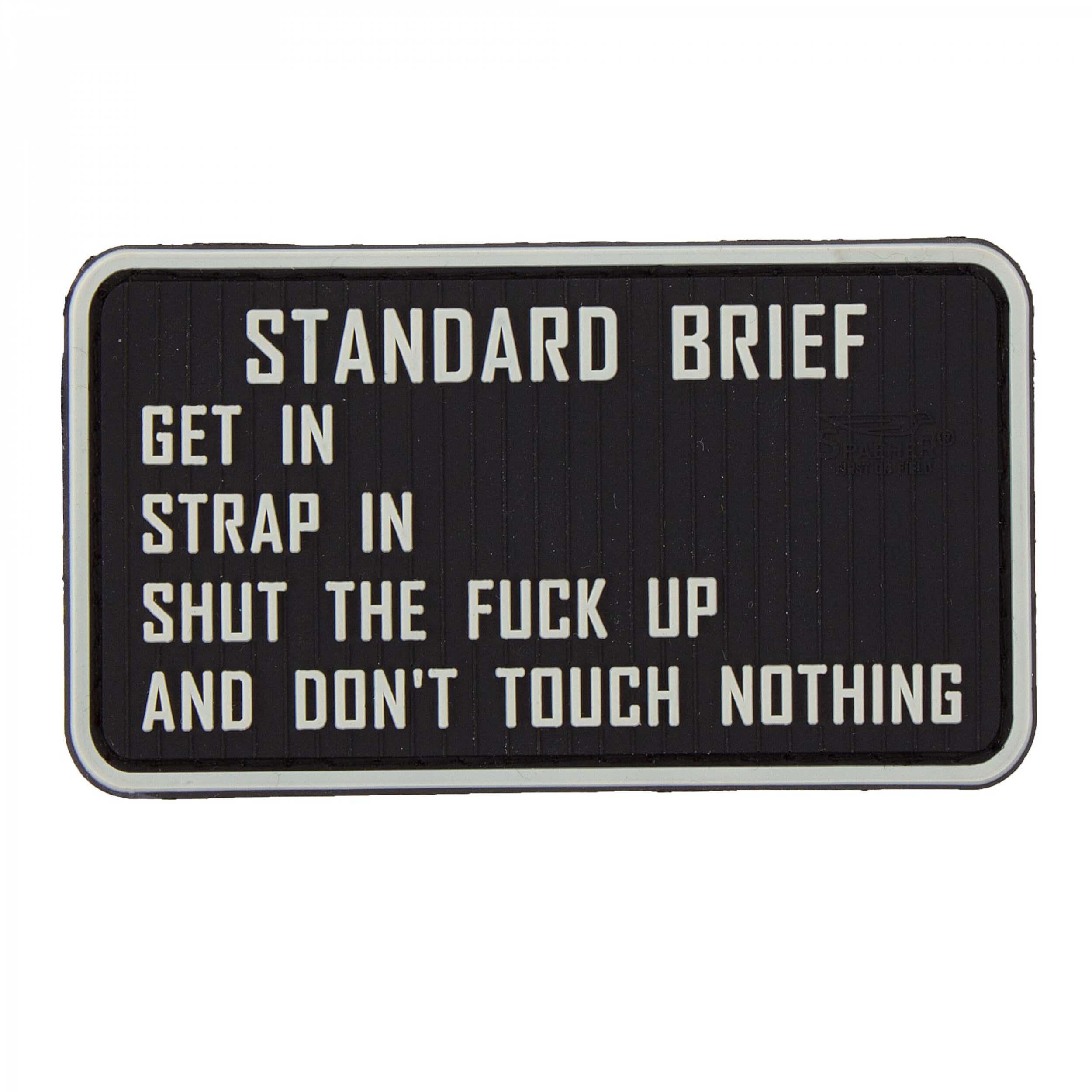 JTG Standard Briefing 3D Rubber Patch, fullcolour