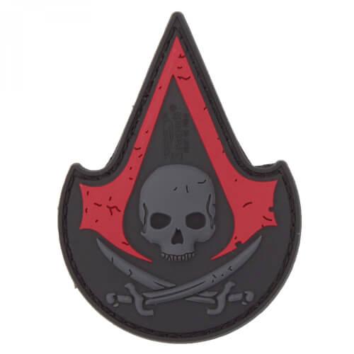 JTG ASSASIN SKULL 3D PVC Patch - blackmedic