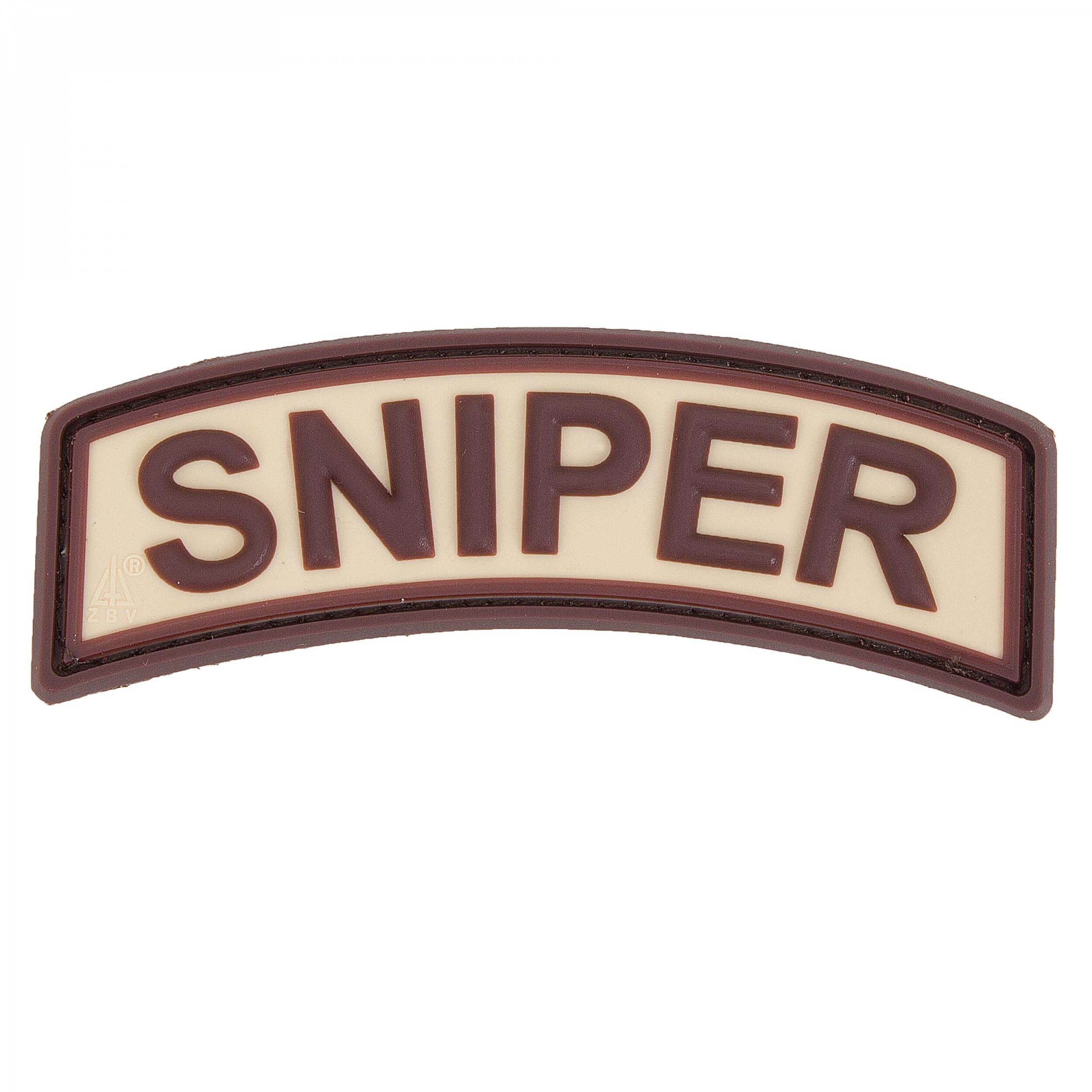 JTG Sniper Tab Patch, desert / 3D Rubber Patch