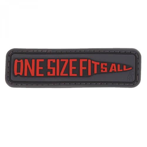 JTG One Size Fits All PVC Patch - schwarz rot