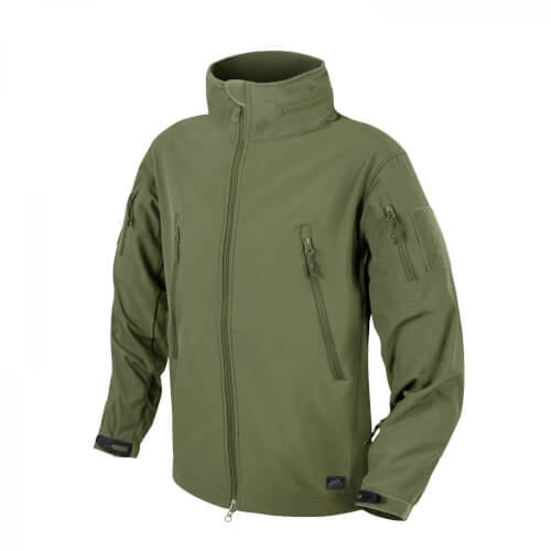 Helikon-Tex Gunfighter Jacke - Shark Skin Windblocker - Olive Green