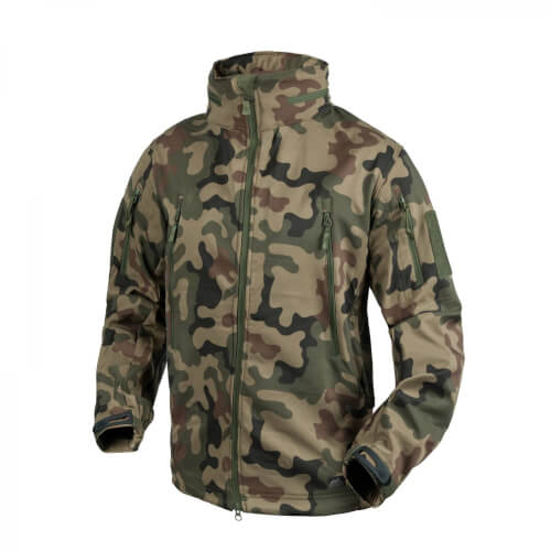 Helikon-Tex Gunfighter Jacke - Shark Skin Windblocker - PL Woodland