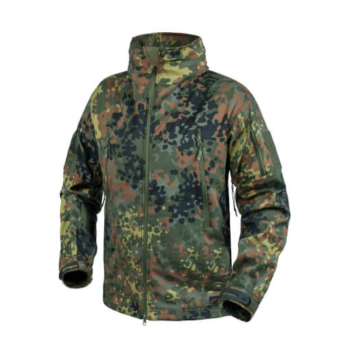 Helikon-Tex Gunfighter Jacke - Shark Skin Windblocker - Flecktarn