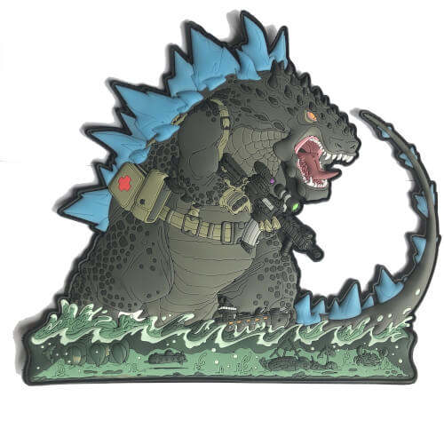 Opzilla Giant Patch Hiwez King Monster 25x22cm Rubber Patch
