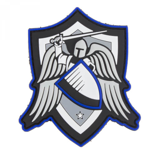 Archangel SAINT MICHAEL SHIELD TBL (THIN BLUE LINE) - 3D PVC Patch