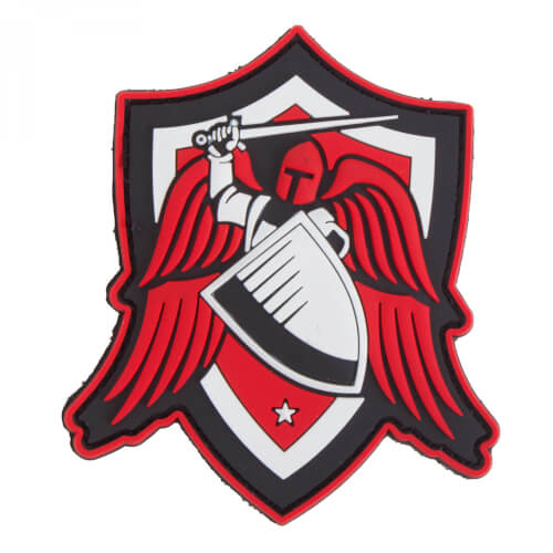 Archangel SAINT MICHAEL SHIELD 3D PVC Patch - red