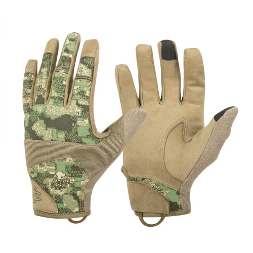 Helikon-Tex Range Tactical Gloves Hard - PenCott Wildwood / Coyote A
