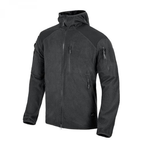 Helikon-Tex ALPHA HOODIE Jacket -Grid Fleece- Black