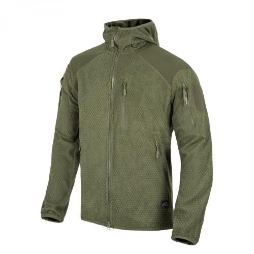 Helikon-Tex ALPHA HOODIE Jacket -Grid Fleece- Olive Green