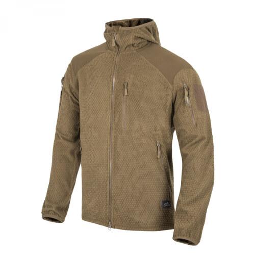 Helikon-Tex ALPHA HOODIE Jacket -Grid Fleece- Coyote