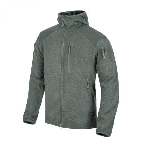 Helikon-Tex ALPHA HOODIE Jacket -Grid Fleece- Shadow Grey