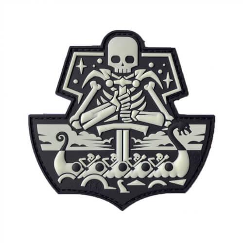 JTGGhostShip SkullVersion One 3D Rubber Patch - GID